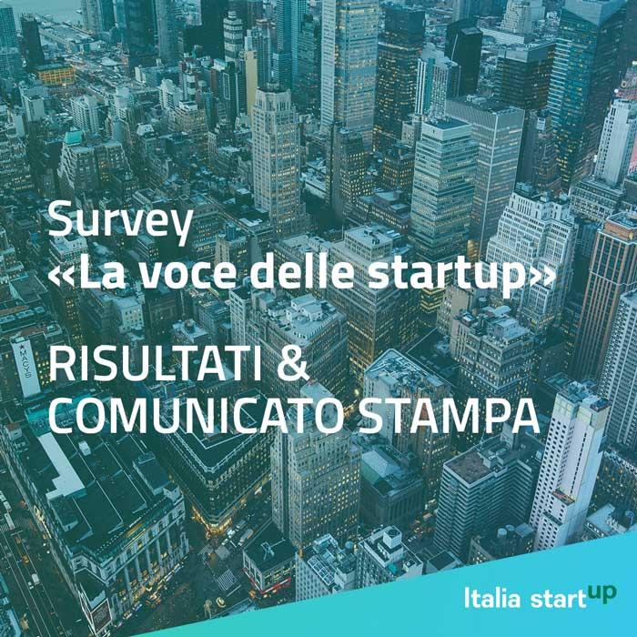 """Risultati Survey """"La Voce Delle Startup"""""""